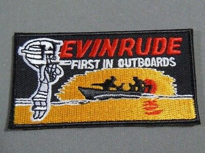 EVINRUDE- First In Outboard Motors  Iron On  Jacket - Cap Patch 3""