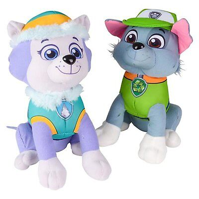 "Paw Patrol Plush Stuffed Figure Everest Rocky Set 10"" Doll Kids Boys Girls Toy"