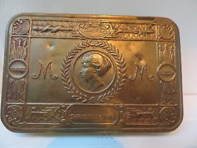 "Britain -- Princess Mary's ""Christmas 1914"" War WWI Brass Box"