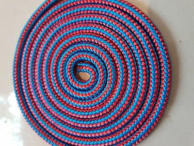 6MM Per Mtr Double Braided Rope Polyester Yacht Rope Red Blue