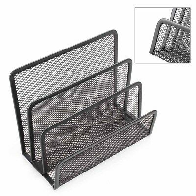 Black Mesh Letter Paper File Storage Rack Holder Tray Organizer Desktop Office