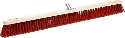 ELASTON Street Broom Industrial Broom Workshop Broom 30 40 50 60 80 100 cm Red