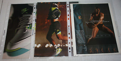 Vintage Nike Tennis Challenge Court Advertising Print Ad Poster | You Pick