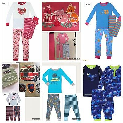 Organic 3 Piece Boys & Girls Winter Pajamas, Cotton PJ's. Childrens Pyjamas