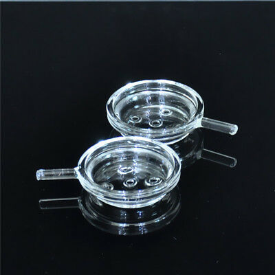 2X Portable Glass Screen Clear Hookah Plate Charcoal Foil Charcoal Holder Heater