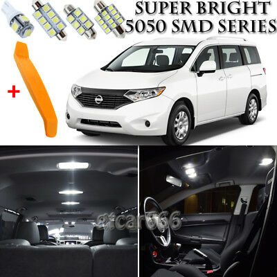 17 x Xenon White Interior LED Lights Kit + TOOL For 2011 - 2017 Nissan Quest