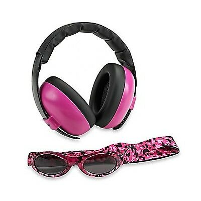 Baby Banz Earmuffs and Infant Hearing Protection and Sunglasses Combo 0-2 Yea...
