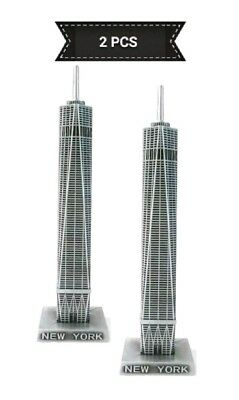 2 PCS Metal Freedom Tower، World Trade Center New York Souvenir 4.33 inches Tall