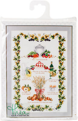 """Thea Gouverneur Kitchen Sampler On Aida Counted Cross Stitch Kit-21.5""""X27.5"""" 16"""