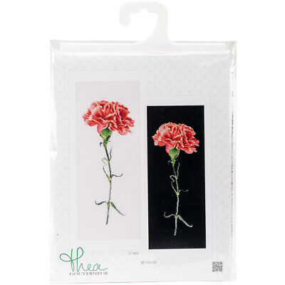 "Thea Gouverneur Carnation Red On Aida Counted Cross Stitch Kit-6.5""X16.5"" 18 Cou"
