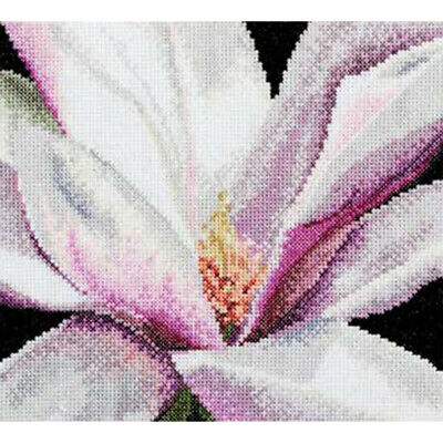 "Thea Gouverneur Magnolia On Aida Counted Cross Stitch Kit-5.75""X5.5"" 18 Count"