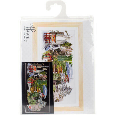 "Thea Gouverneur Japan Black Edition On Aida Counted Cross Stitch Kit-31""X13.75"""