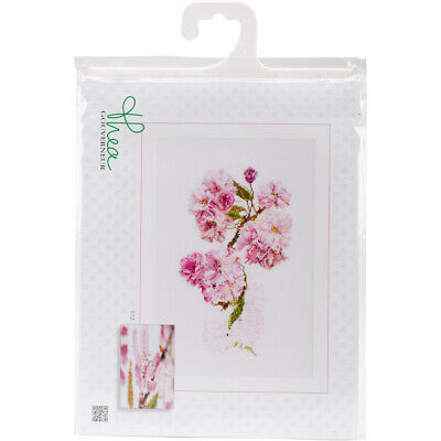 "Thea Gouverneur Prunus On Aida Counted Cross Stitch Kit-11.75""X7.75"" 18 Count"