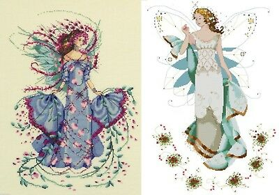 October Opal Fairy or May Emerald Fairy - Cross Stitch Chart - FREE POST
