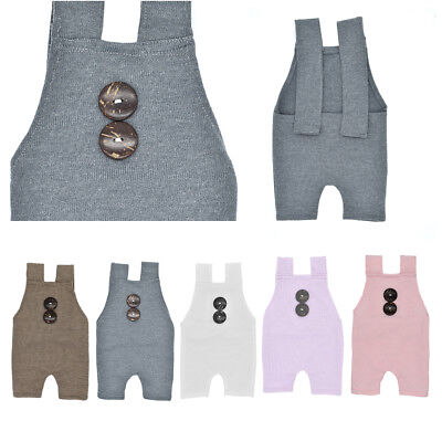 Newborn Boys Girls Costume Infant Buttons Romper Baby Photography Props Outfit