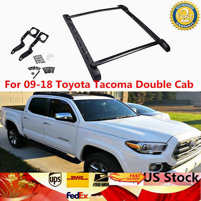 For 09-18 Toyota Tacoma Double Cab Roof Rack Side Rails Bars Set OE Factor Style