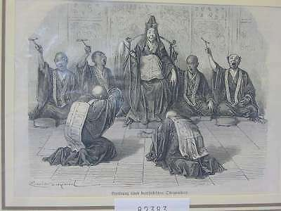 82383-Asien-Asia-China-Buddistischer Oberpriester-T Holzstich-Wood engraving