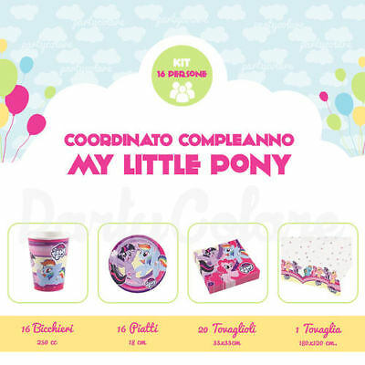 Kit Compleanno My Little Pony per 16 Persone