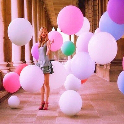 36 inch latex matte balloons giant big birthday wedding party
