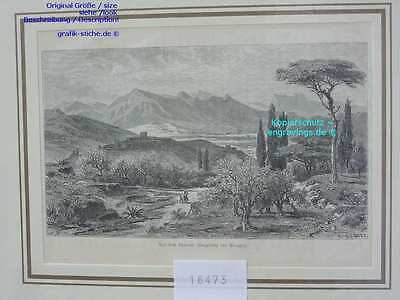 18473-Italien-Italy-Italia-Apennin-Perugia Umgebung-T Holzstich-Wood engraving