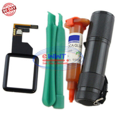 FREE SHIP for Apple Watch Series-1 38mm Touch Screen Digitizer + UV Glue ZVLT140