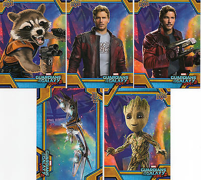 7 Cards 2017 Guardians of the Galaxy Vol 2 #RB1 RB6 RB11 RB16 RB19 RB32 & RB42