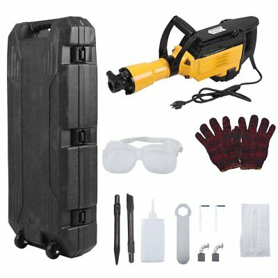 HD 3600Watt Electric Demolition Concrete Jack Hammer Breaker w/ Case MS