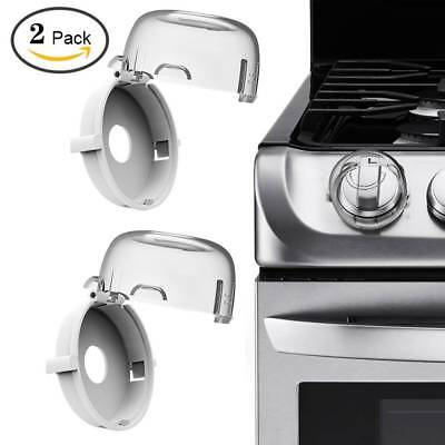 2PCS Lock Guard Kids Safety Stove Oven Control Switch Knob Cover Protective Cap