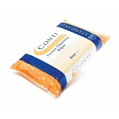 32 x 100 Conti Standard Regular Patient Cleansing Dry Wipes Nursing Homes