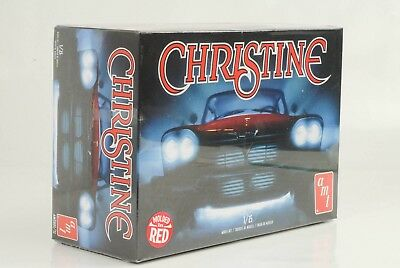 Movie Christine 1958 Plymouth modeled in red Model Kit Bausatz 1:25 Amt