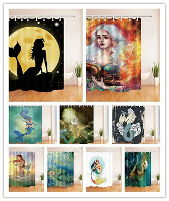 Magical Mermaid Story 71x71 Inch Waterproof Fabric Shower Curtain & 12 Hooks