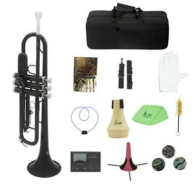 Bb Brass Trumpet B Flat w/ Hard Case Care Kit Tuner for Student Adults Band G6R2