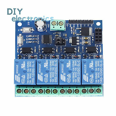 ESP8266 12V 4Channel WiFi Relay Smart Home Phone Remote Control SwitchUS