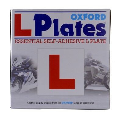 Oxford Motorcycle Scooter Essential Self Adhesive L Plates (Pair) OX172 - T
