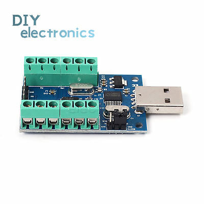USB 10 Channel 12Bit AD Data Collection Board STM32 UART ADC ModuleUS