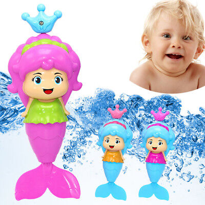 Bath Tub Fun Swimming Baby Bath Toy Mermaid Wind Up Floating Water Toy for Kids