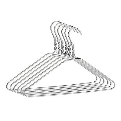 Stainless Steel Strong Metal Wire Hangers 40cm for Clothes Suit Trouser Coat
