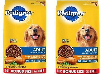 100 Pounds Pedigree Adult Complete Nutrition Roasted Chicken, Rice & Vegetable