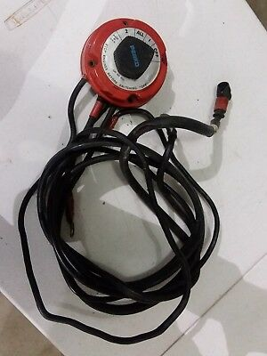 Perko Battery Selector Switch Dual Position Dual Batteries with CABLES-Used