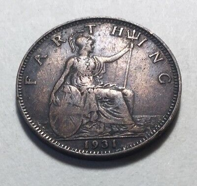 Great Britain (UK) 1931 Farthing Coin - King George V