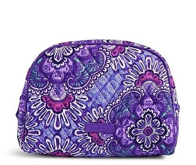 NWT Vera Bradley Large Zip Cosmetic Lilac Tapestry