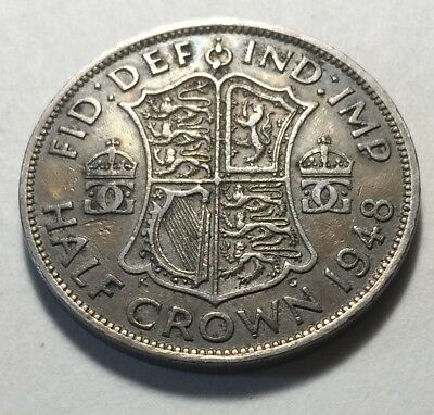 Great Britain (UK) 1948 Half Crown Coin - King George VI
