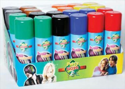 Temporary hair colour wash out spray can kids adults fancy dress party dye 125ml