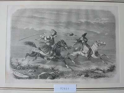 92851-Asien-Asia-Iran-Iran-Persien-Persia-Fantasia Chasse-T Holzstich-engraving