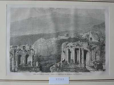 93369-Italien-Italy-Italia-Taormine-Sizilien-Sicilia-T Holzstich-Wood engraving