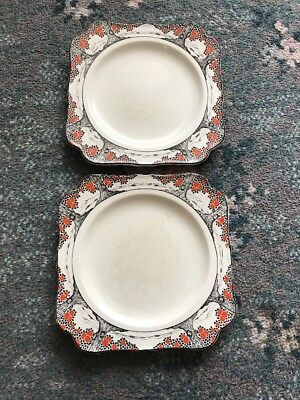 Two Crown Ducal Orange Tree Cake Plates