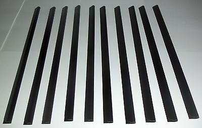 A4 Slide Binders/Spine Bars 5mm in Black Pack of 10 for Home, Office & Schools