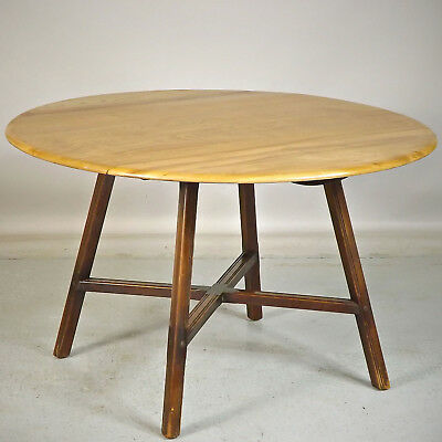 Drop Leaf Dining Kitchen Table - Ercol, Elm, 1960s (delivery £50)