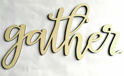 GATHER Door Window Wall Large Wooden Sign Sticker Wedding Decoration Gift Sign
