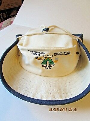 Vintage BSA Boy Scouts of America  Staff Hat Hiawathaland Council  2001 Pioneer